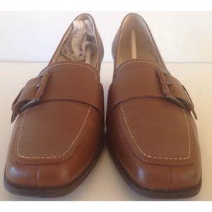 Aerosoles Ladies Loafers 8.5 NWOB Brown leather